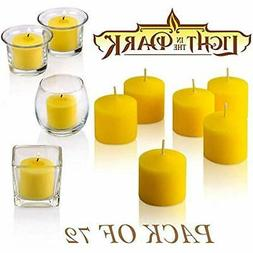 Set Votive Candles Of 72 Citronella - Summer Scented Scare A