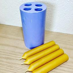 silicone taper Candle Mold 4 cavities chime spell rutual can