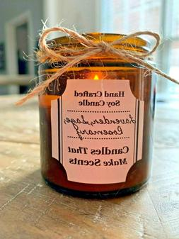 Handmade Soy Candles that smell AMAZING in 4oz & 9oz Amber J