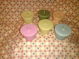 Soy VOTIVE candles, 6 pc set, 245+ scents, handmade, A-N lis