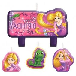 """Amscan 171627 Tangled Birthday Candles, 2 1/3"""" x 3"""", Pink"""