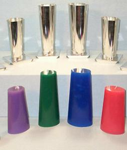 Tapered OVAL Metal Candle Mold