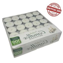 Tea Light Candles - Bulk Pack - White Unscented, 2.5 hours b