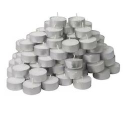 Tea light Candles White Tea lights Unscented 4 hour Travel L