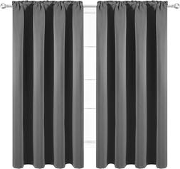 Wontex Thermal Insulated Blackout Curtains, Back Tab And Rod