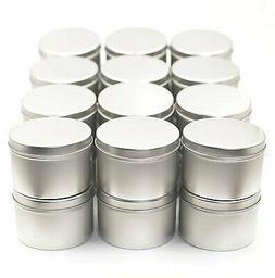 Tin Cans for Candle Making with Lids 8 oz 24 Pack from Omnya