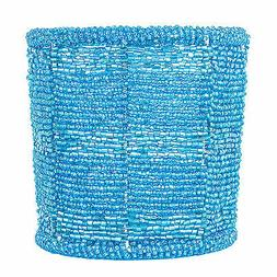 turquoise beaded votive candle holder more colors