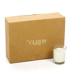 Hosley's Set of 12 Unscented Glass Votive Candles