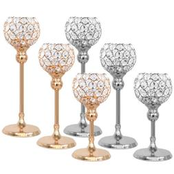 Votive Crystal Candle Holders Pillar Table Centerpiece for W