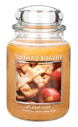 Village Candle Warm Apple Pie 26 oz Glass Jar Scented Candle