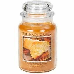 Village Candle Warm Buttered Bread 26 oz Glass Jar Scented C