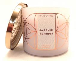 Bath and Body Works White Barn 3 Wick Scented Candle Mineral