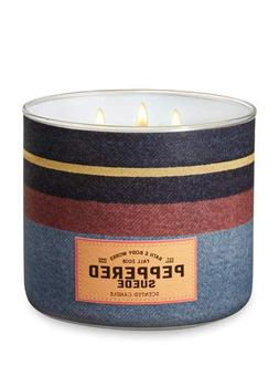 Bath and Body Works White Barn Peppered Suede 3 Wick Candle