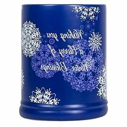 Winter Blessings Snowflakes Blue Christmas Electric Large Ja