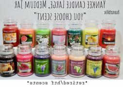 """YANKEE CANDLE """"YOU CHOOSE"""" Scented Jar Candle Large Medium T"""